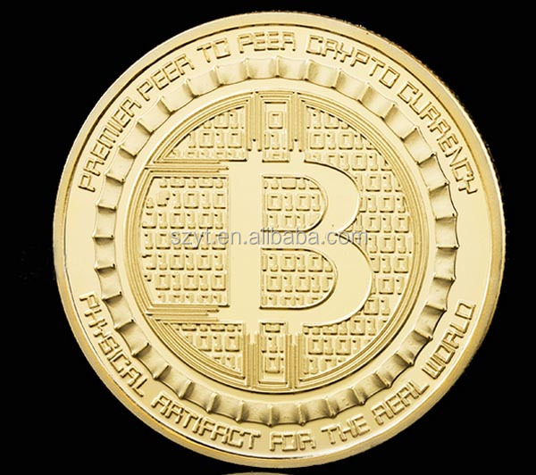 American Coin 2017 BTC Silk Road Gold Plated Coin Bitcoin Coin Collection