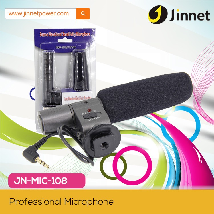 Professional Studio Condenser Microphone JN-MIC-108 for Sony DV HandyCam Camcorders Camera