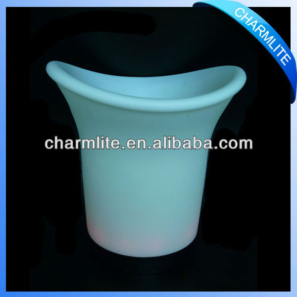 Plastic LED Ice Bucket, LED Lighted Ice Bucket, LED Illuminated Ice Bucket