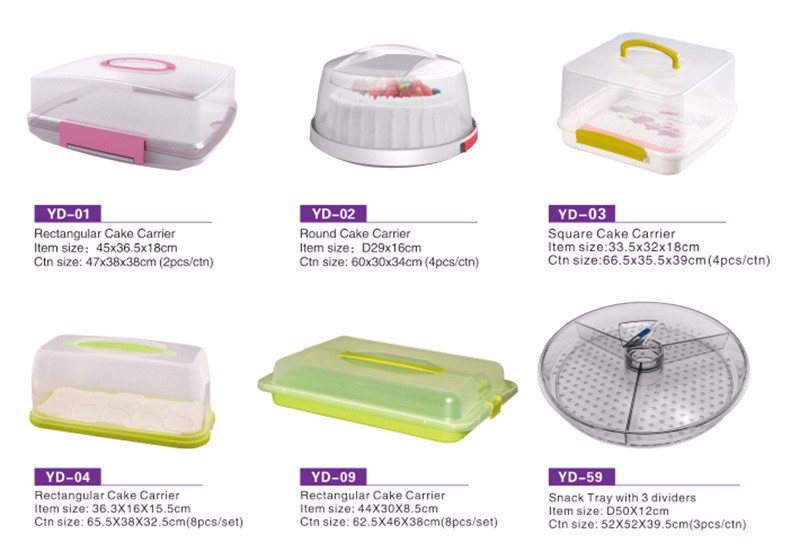 Plastic Round Cake Carrier With FDA/LFGB/DGCCRF Food Grade & BPA Free With Lid Cupcake Carrier Cake Decoration Cake Carrier