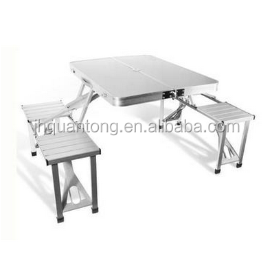 plastic top blow molded camping picnic plastic folding tables