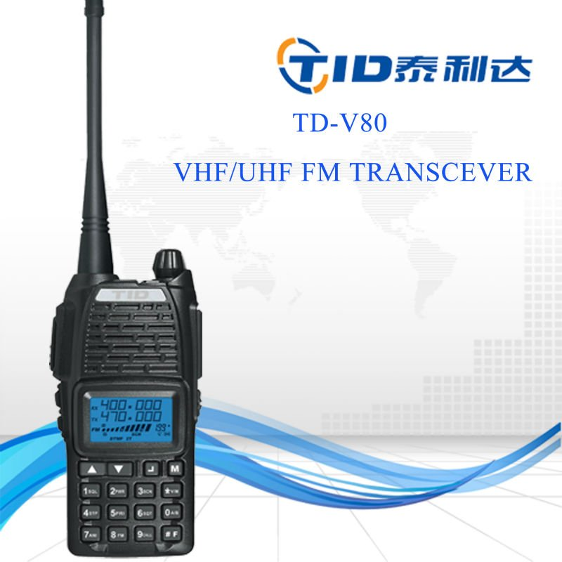 Td-v80 dual band 400-480mhz walkie talkie programming