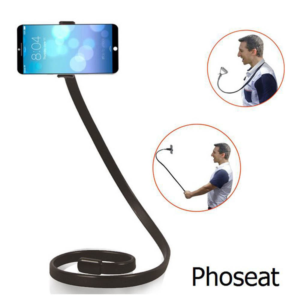 Long Flexible 360 Clip Shapeable Universal Desktop Table Neck LAZY Cell Phone Holder