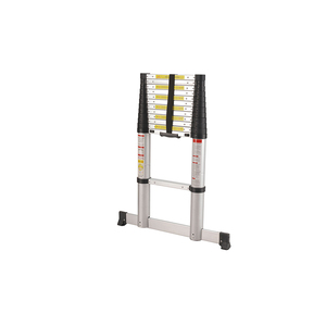 Easy extend pvc rubber anti-slip telescopic ladder