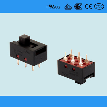 3 Position 3 Way Pcb Terminals Slide Switch 3 Position - Buy 3 ...