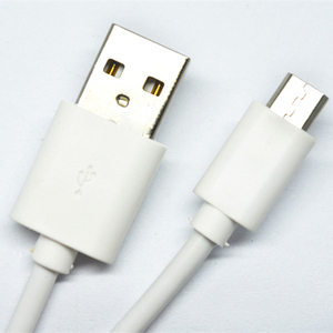 Wholesale data wire/Roungd micro usb cable white color
