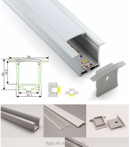 Professional Manufacturer in led Strip lighting PMMA clear diffuser recessed linear profile ,plexiglass light diffuser