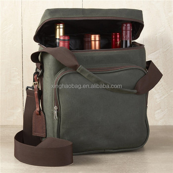 Waxed Canvas Waterproof High Quality Fashion Wine Bag Crossbody From China Factory
