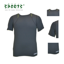 OEM/ODM Mens polyester/spandex knitted compression quick dry short sleeve running t shirt