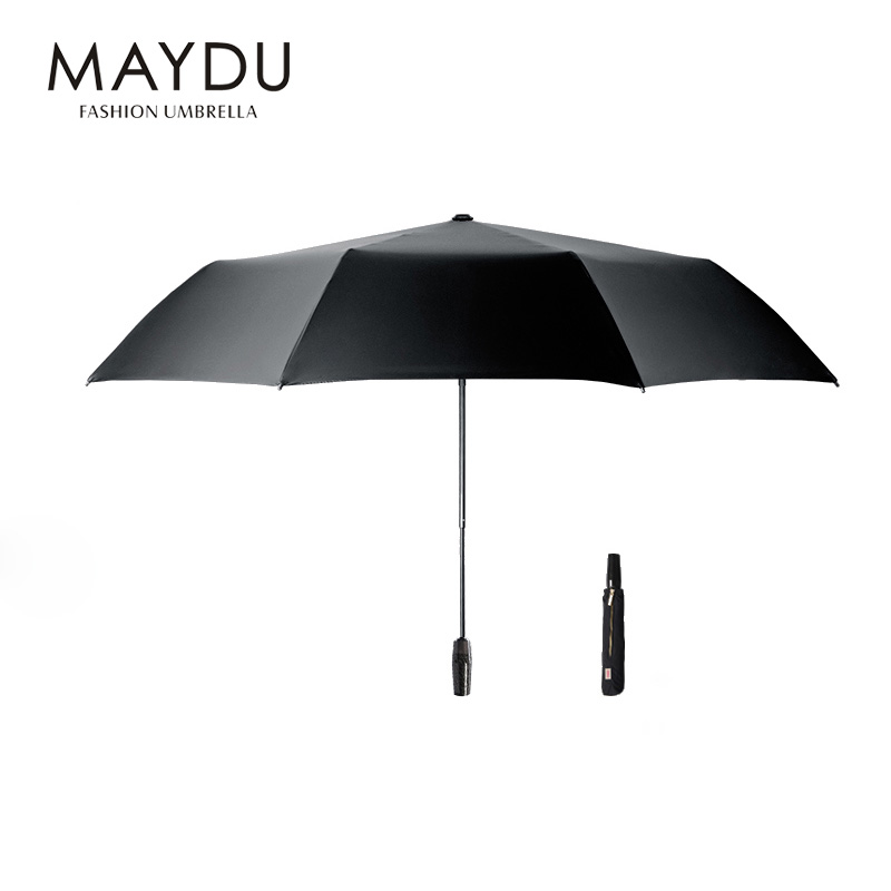 MAYDU 2018 new design high quality auto open and close custom bulk 3fold sun umbrella