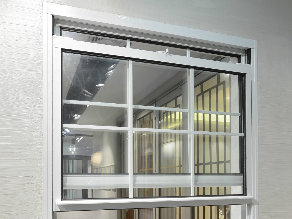 Alluminio singola finestra appesa doppi vetri in - Doppi vetri per finestre ...