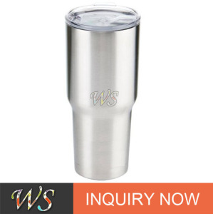 promotional stainless steel wine drinking cup bottle rtic tumbler with cover lid and logo printed