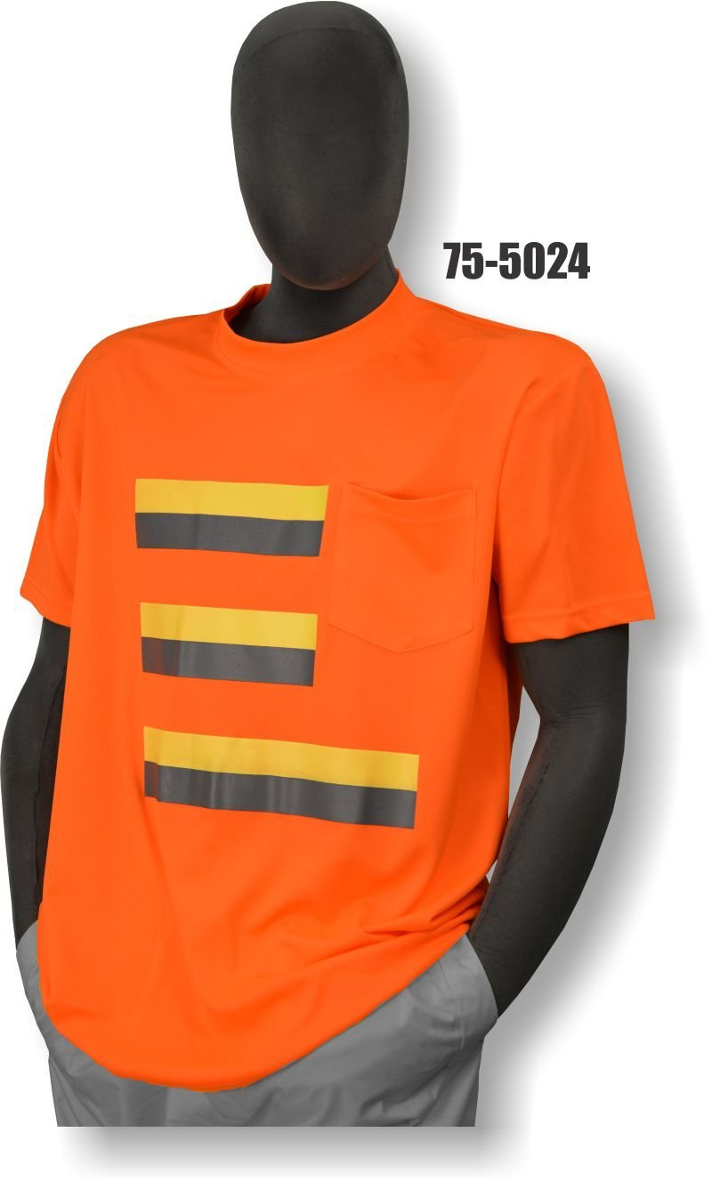 e22faac1 Get Quotations · Majestic Glove 75-5024/X3 T-Shirt with Pocket, 50/50