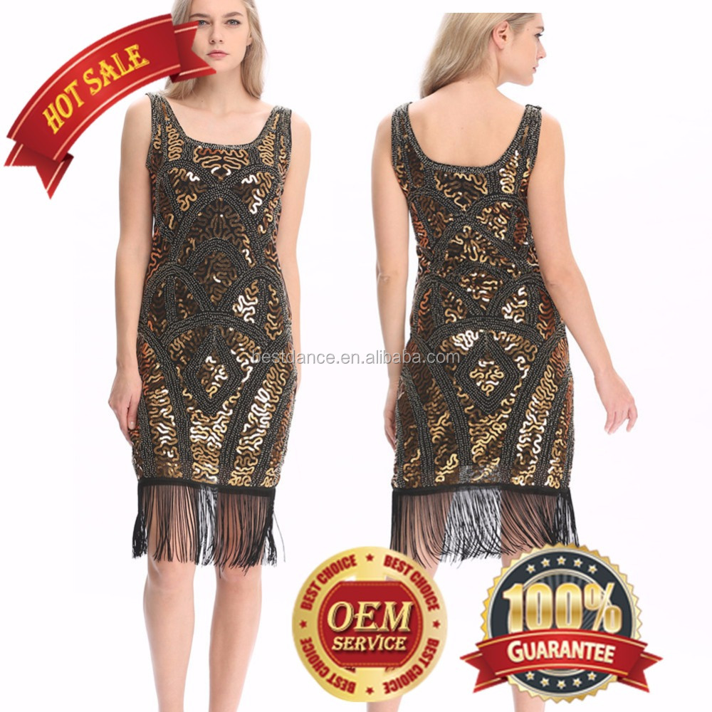 BestDance 1920'S STYLE GATSBY VINTAGE LOOK CHARLESTON SEQUIN FLAPPER DRESS OEM