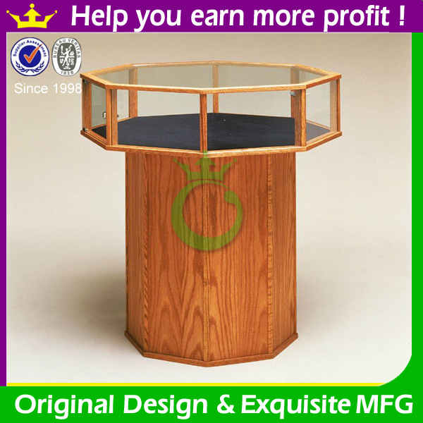 Free standing jewelry display table for shop interior design