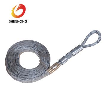 High Tensile Galvanised Steel Wire Cable Pulling Grips Mesh Sock ...