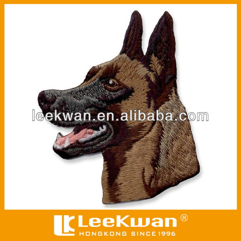 2015 embroidery patch high definition, dog patch embroidered patch