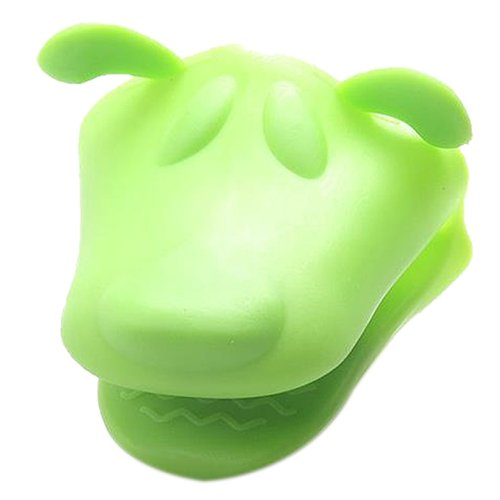 SODIAL(R) Heat-resistant Kitchen Oven Holder BBQ Baking Mitt Glove Tool Silicone Doggy (green)