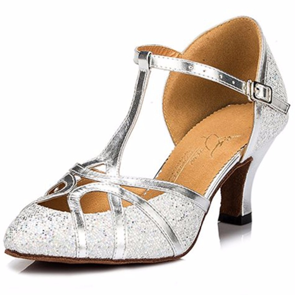 adult dance shoes shiny glitter pointe shoes for women