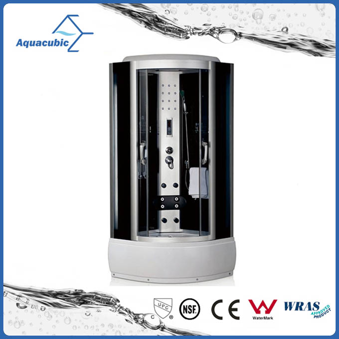Aquacubic Hot Selling Popular European Style Glass Bath Shower Cabin with control panel