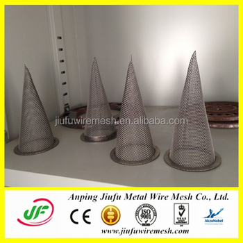 Anping Jiufu China Factory Stainless Steel Wire Mesh Cone Filters ...
