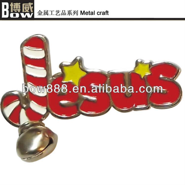 Christmas metal gift customized handicrafts with tiny bell