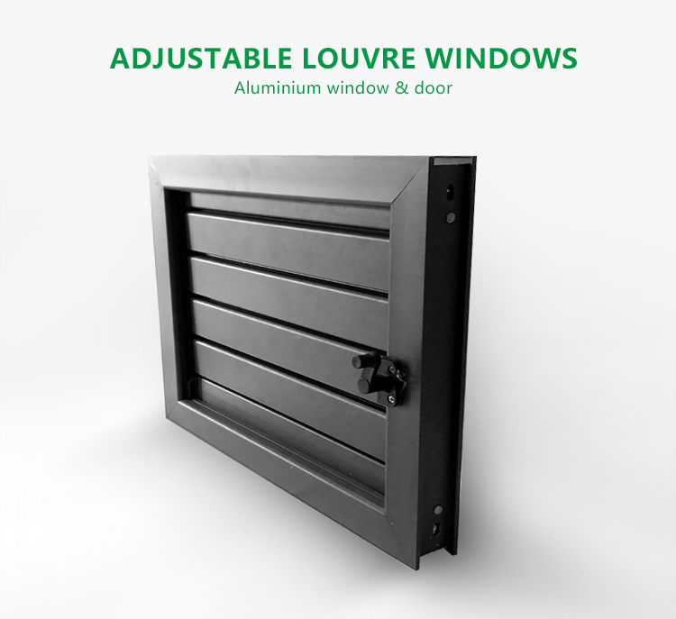 foshan louver shutters panel blade window bathroom aluminium frame adjustable louvre shutter windows
