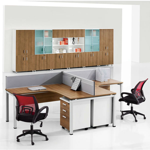 modern simple l shape t layout 2 person workstation desk