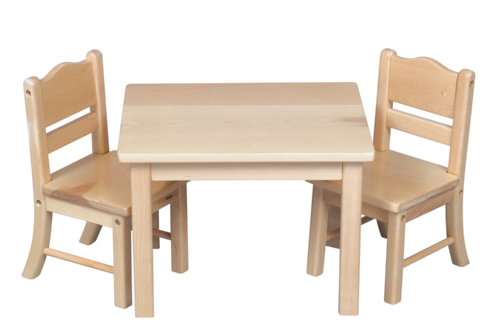 Cute Kids Table And Chair Preschool Wood Children Very Hot