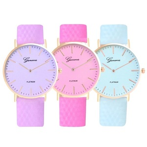 Promotion Free Shipping New Fashion Simple Style Temperature Change Color Women Watch Sun UV Color Quart Watch LLW059