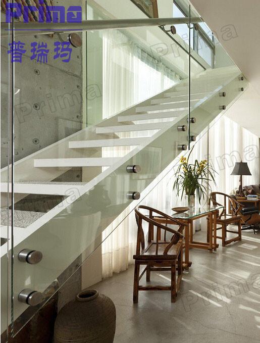 Glass Stair Railings Interior: Outdoor Acid Etched Glass Railings / Glass Balcony Railing