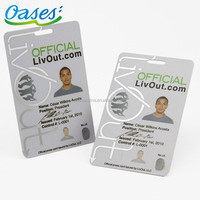 Print pvc punch id cards for empolyee / university / school / business