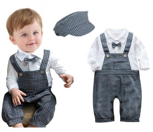 089ebb298 Buy Baby boy clothes gentleman boys romper bebe infantil costume ...