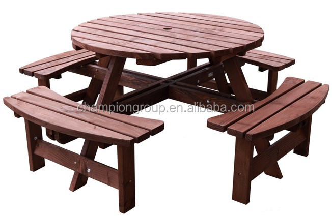 Panchina Rotonda : Legno panca da giardino buy picnic panca da giardino camping