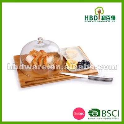 a34b884ff82 HBD Factory hind klaasist juustu kuppel bambuse pardal komplekt, juust  kuppel noaga wholesae