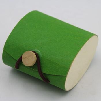 china supply pretty wooden bark gift box with elastic enclosure