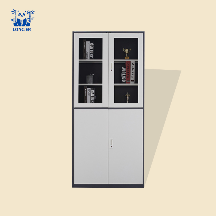high quality office furniture modern function four door steel book file cabinet