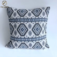 Blue Polyester cotton kilim indian cushion covers for home decor hotle