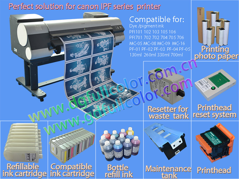 Buying In Large Quantity Pfi 107 Refillable Inkjet Cartridge For ...
