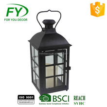 ML-2328 Popular wholesale good quality daily life decoration LED candle handmade table top metal lantern
