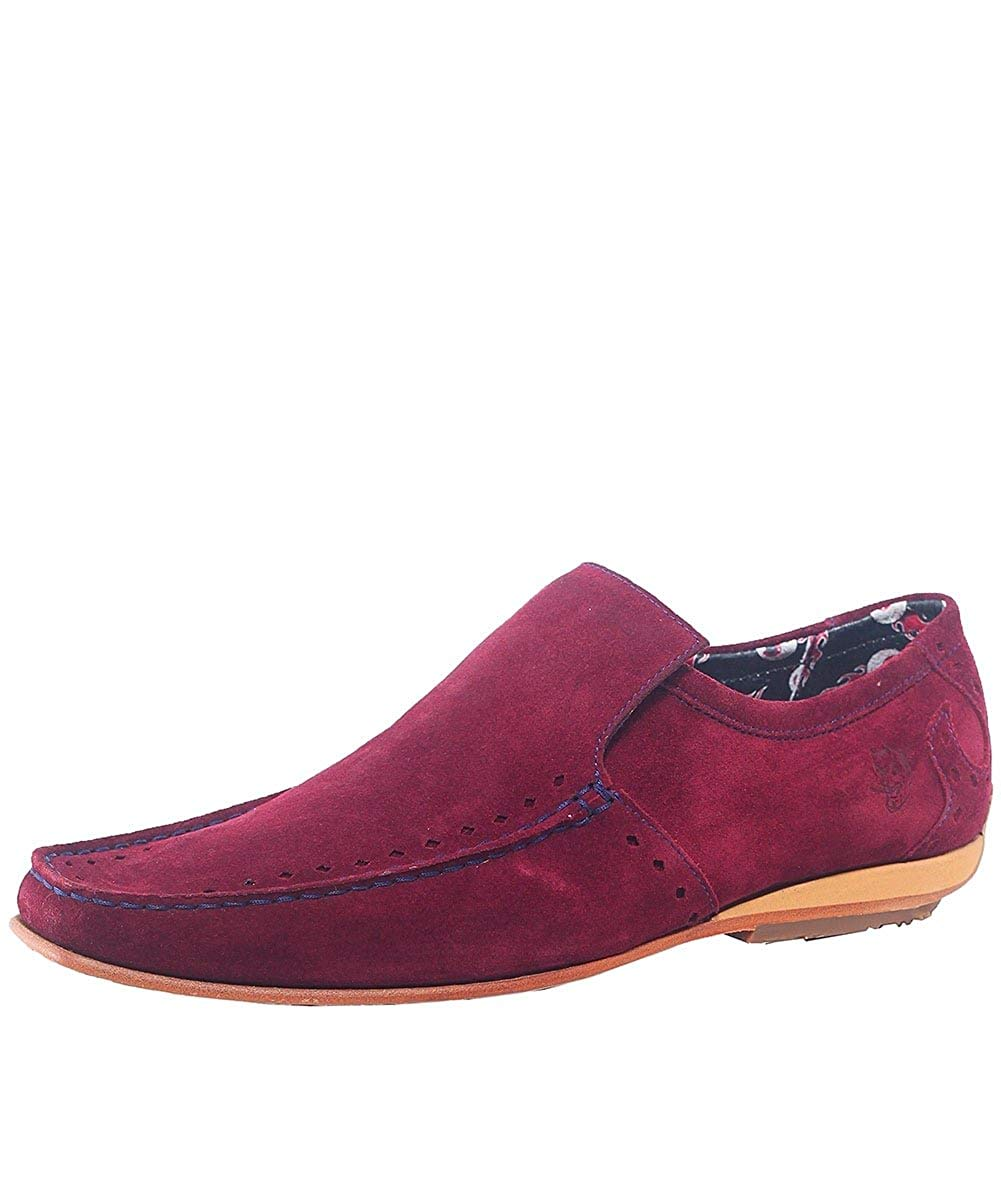 79ce40df5c9 Get Quotations · Jeffery-West Men s Suede Martini Loafers Burgundy