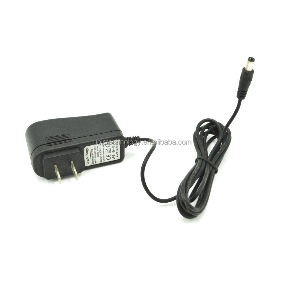 18650 Li-ion battery charger 8.4V 1A 12W with DC Connetor 5.5*2.1/5.5*2.5 size:45*72*30(mm)