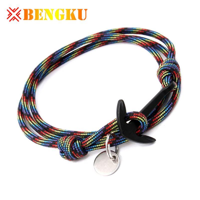 63922f83d72f ¿Dónde puedo comprar cuerda pulseras de hilo con cierre de ancla de banda  de Nylon