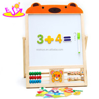 Educational Math wooden counting frame learning toy,Early learning wooden study blackboard toys for christmas W12B084A