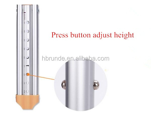 150KG bear weight aluminum alloy medical crutch with soft rubber pad