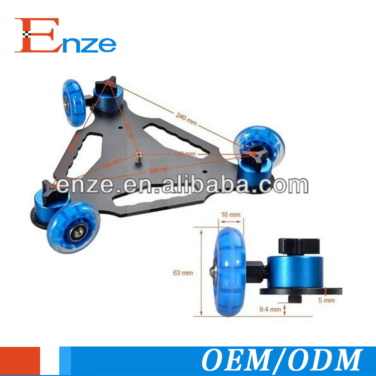 3 wheel Desktop Floor Table Video Slider Track Dolly Car for DSLR Camera,camera track slider