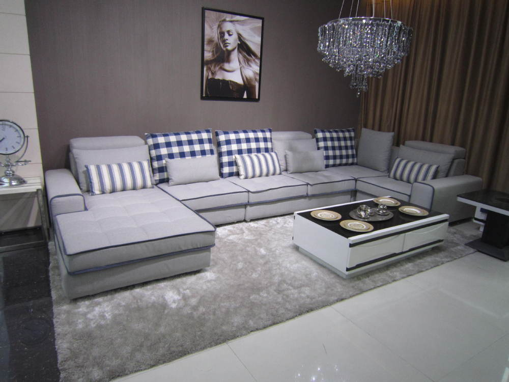 Newly American Living Style Sectional Sofa Furniture Fabric