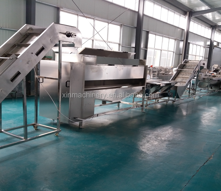 XDX 500kg/h full automatic frozen french fries making machine