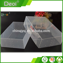 Factory Made Practical Plastic Clear Storage Shoe Box Custom Printing Shoe Box
