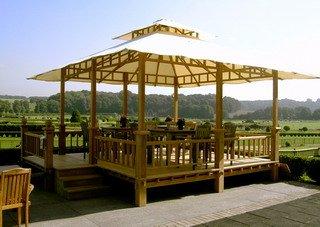 Wooden Teak Gazebo Pavilion